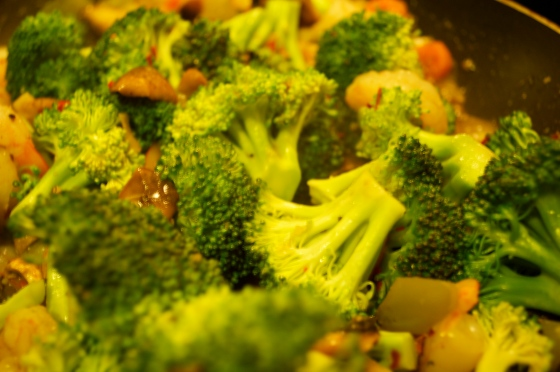 plus steamed broccoli